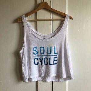 Soul Cycle White Sleeveless Crop Top